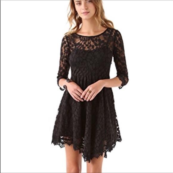 Free People Dresses & Skirts - Free people black lace dress